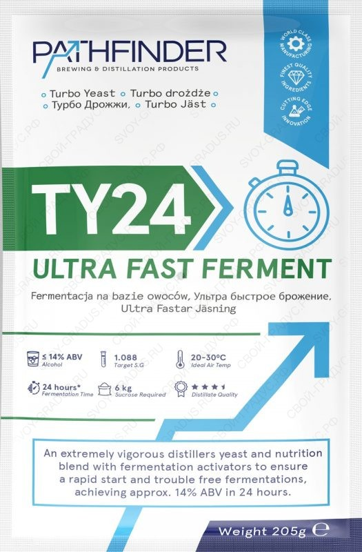 Спиртовые дрожжи Pathfinder TY24 Ultra Fast Ferment, 205г