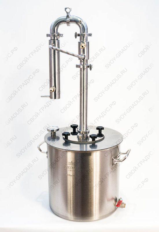 Дистиллятор Фаворит «Эксклюзив» полностью разборный (кламп 1,5″) бак 37 л