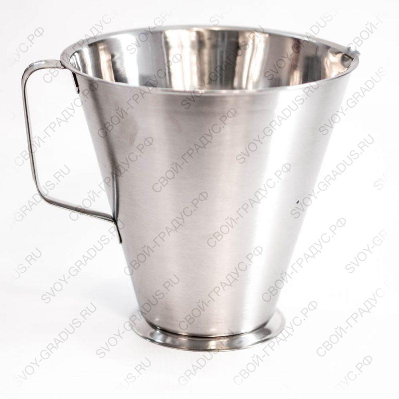 Кувшин мерный 2 литра, нерж.сталь