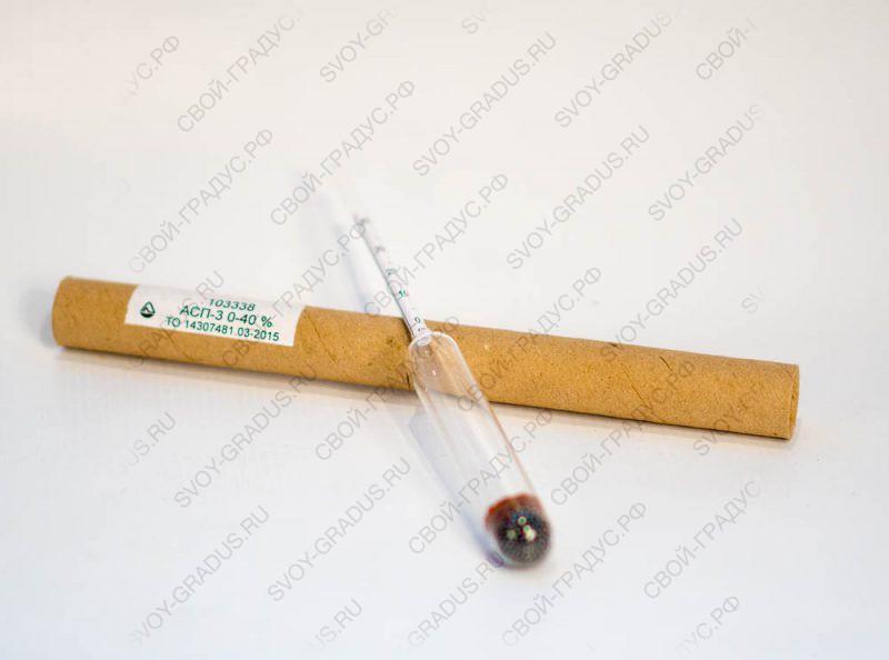 Ареометр для спирта  АСП-3, 0-40%