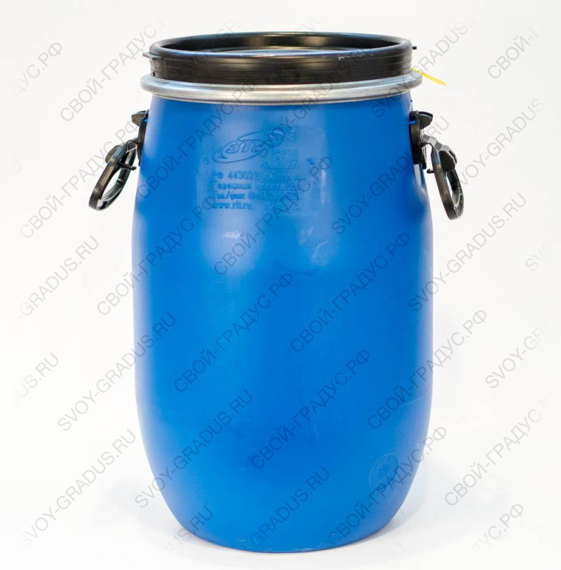 Бочка 30 литров с хомутом из пищевого пластика