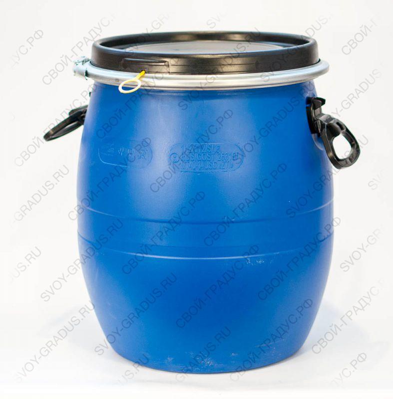 Бочка 48 литров с хомутом из пищевого пластика