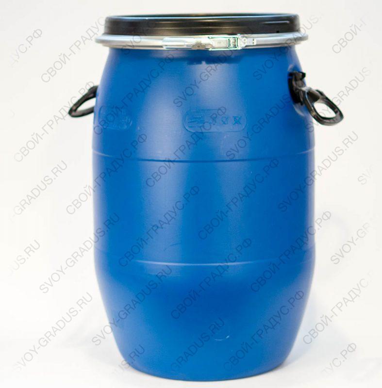 Бочка 65 литров с хомутом из пищевого пластика