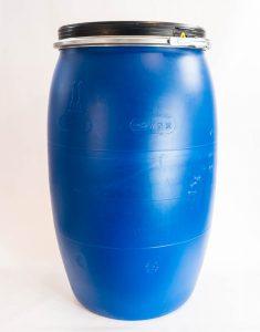 Бочка 227 литров с хомутом из пищевого пластика