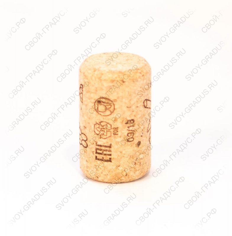 Пробка корковая для тихих вин 33*21 мм.