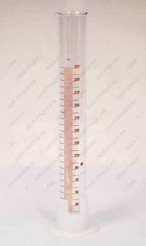 Цилиндр мерный на пластиковом основании 250 мл