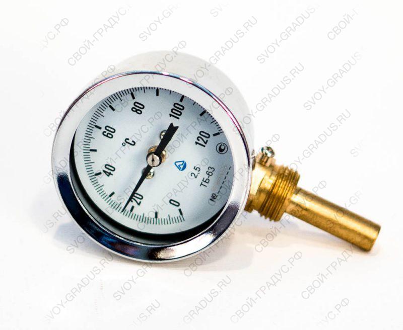 Термометр биметаллический ТБ-63-50 (0…+120°С) радиальный