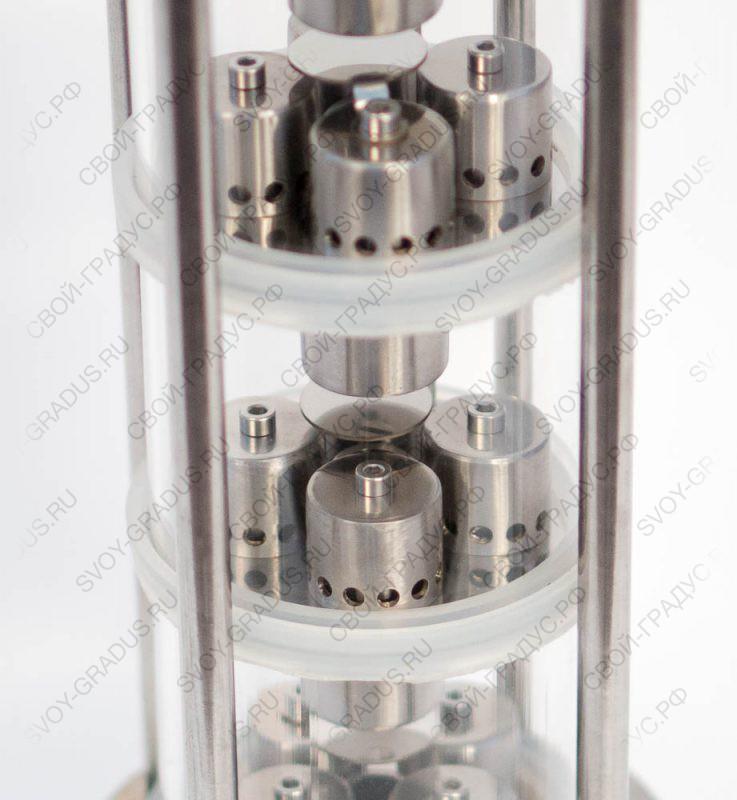 Колонна колпачковая 4 уровня (кламп 1,5″), нерж.