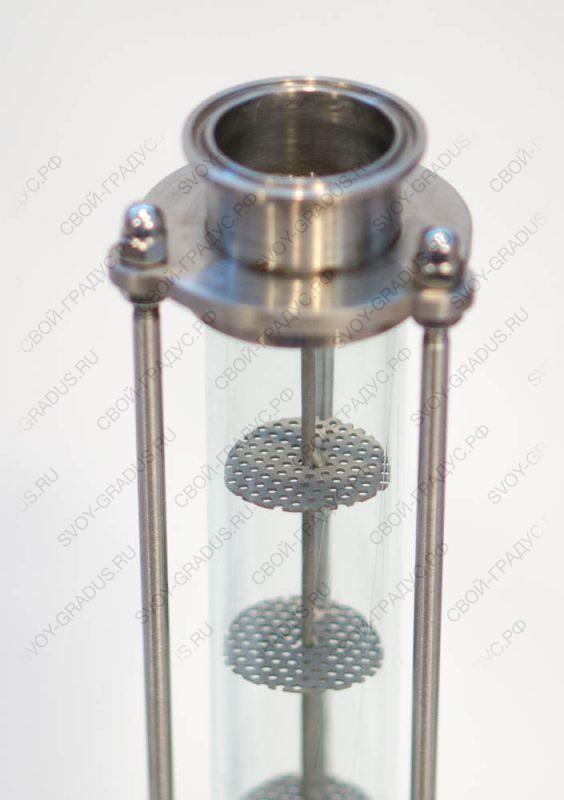 Стеклянная ситчатая колонна «Источник»-40 (кламп 1,5″)