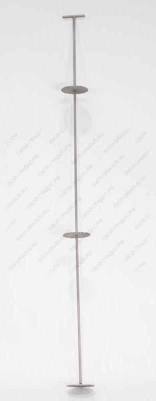 Шампур на 3 тарелки для Стеклянной ситчатой колонны