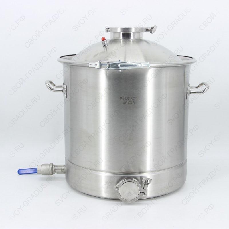 Перегонный куб SUS304 50 литров, кламп 2″
