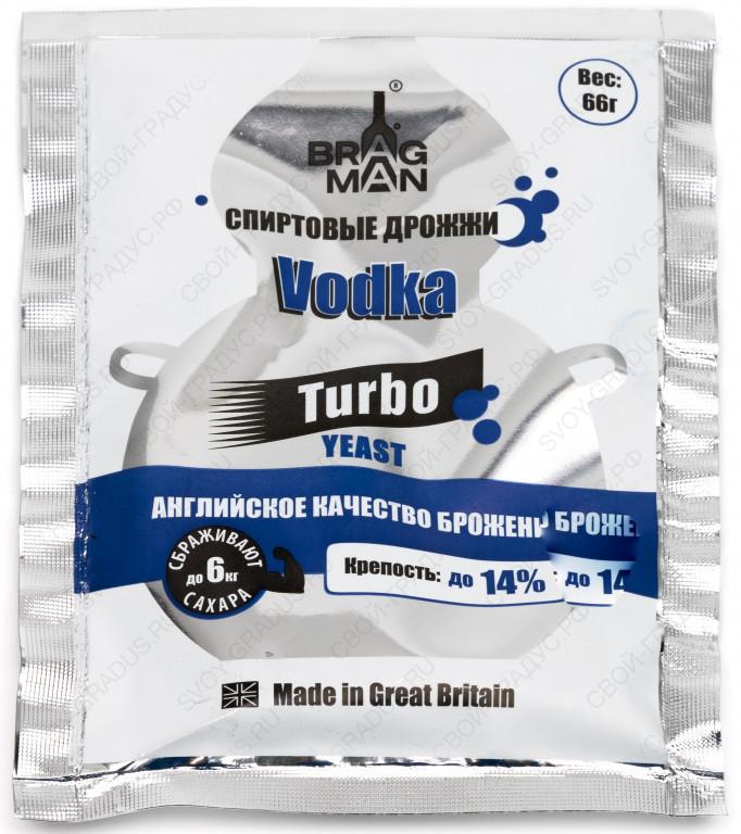 Спиртовые дрожжи Bragman Vodka Turbo 66 г