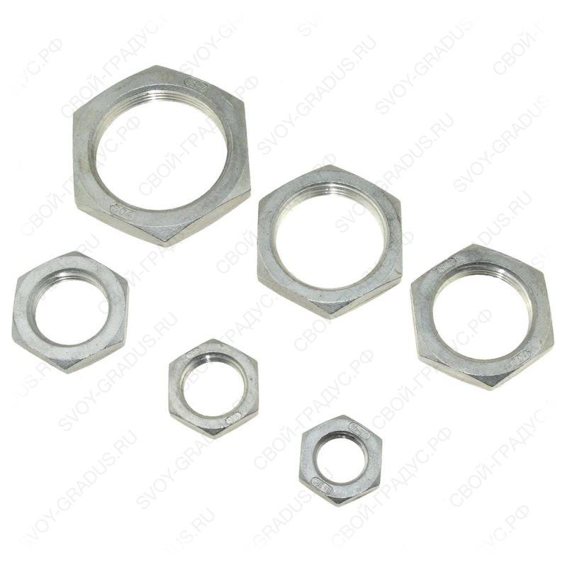 Гайка 1/2″ нержавеющая сталь AISI304