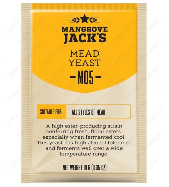 Дрожжи для медовухи Mangrove Jack's «Mead M05», 10г