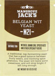 Дрожжи пивные Mangrove Jack's «Belgian Wit M21», 10г