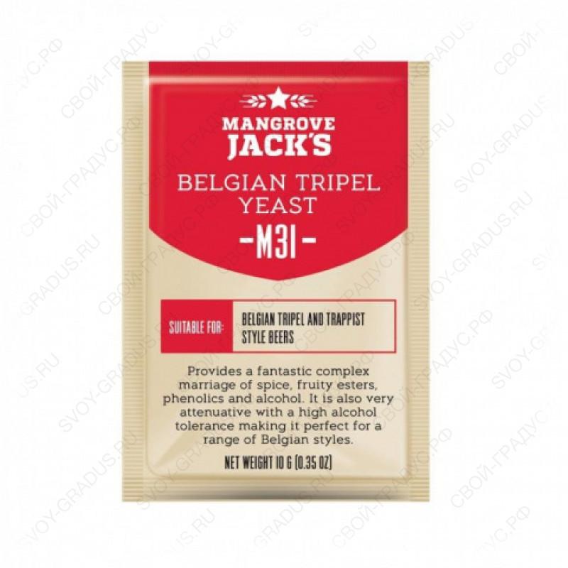 Дрожжи пивные Mangrove Jack's «Belgian Tripel M31», 10г