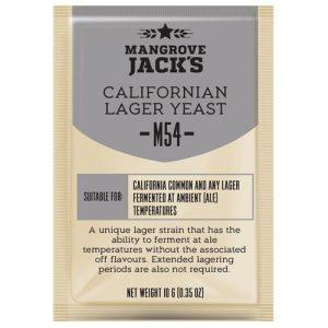 Дрожжи пивные Mangrove Jack's «Californian Lager M54», 10г