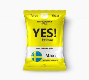 Спиртовые турбо дрожжи YES! YouCan Maxi, 360 г.