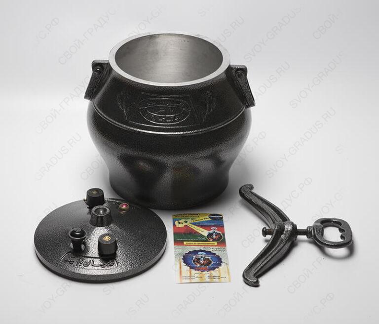 Афганский казан-скороварка 15 литров черный, алюминий