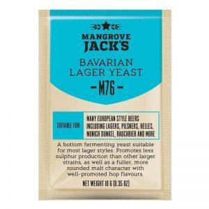 Дрожжи пивные Mangrove Jack's «Bavarian Lager M76», 10г