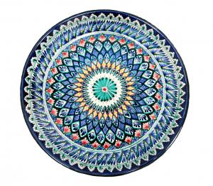 Ляган Риштанская Керамика 38 см. плоский, в ассортименте