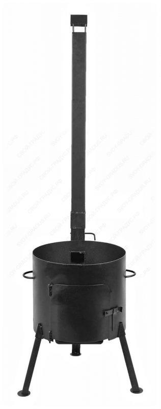 Печь с трубой под казан на 16 л. d-410 мм. сталь 3 мм.