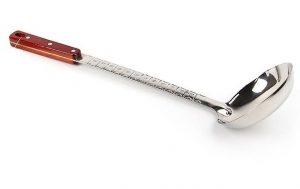 Половник для казана средний с деревянной ручкой 46.5 см