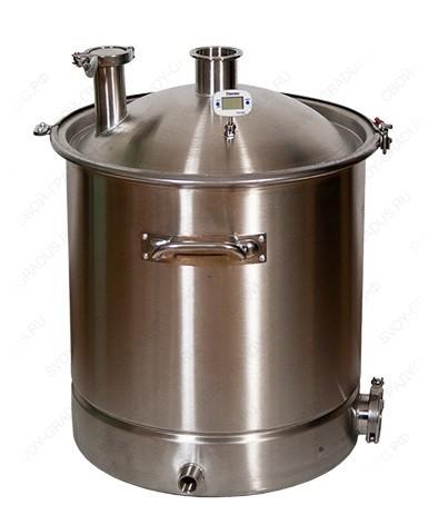 Перегонный куб SUS304 70 литров, кламп 2″ + 1,5″