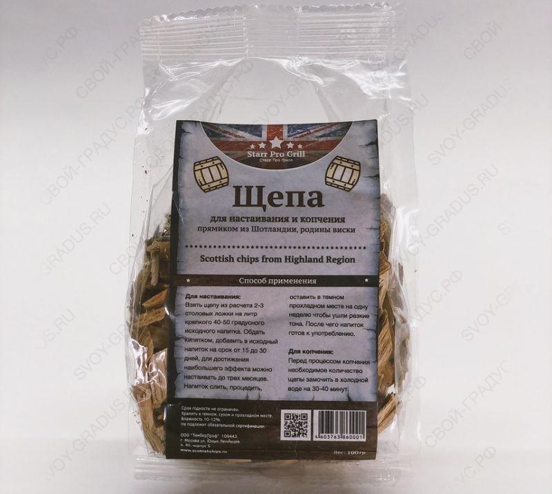Щепа дубовая Scottish Chips from Highlands region, 100г