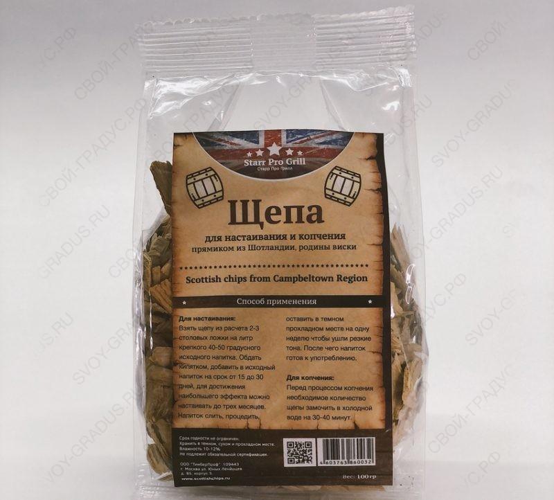 Щепа дубовая Scottish Chips from Campbeltown region, 100г
